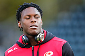 29th September 2017, Sixways Stadium, Worcester, England; Aviva Premiership Rugby, Worcester Warriors versus Saracens; Maro Itoje of Saracens walks the pitch before warm-up