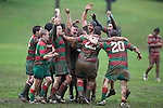 CMRFU Counties Power 2008 Club rugby finals day held at Growers Stadium, Pukekohe on July 26th. Under 19 Bright Cup rugby final between Waiuku & Karaka. Waiuku won 10 - 0.