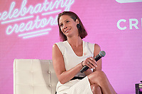 NEW YORK, NY - AUGUST 9: Christy Turlington at the #WinningWomen discussion at #BlogHer18 Creators Summit in New York City on August 9, 2018. <br /> CAP/MPI99<br /> &copy;MPI99/Capital Pictures
