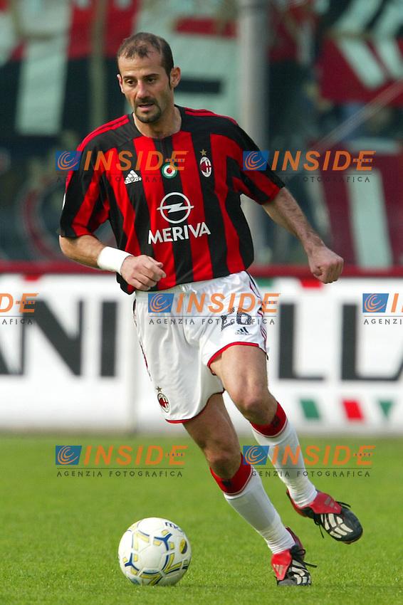 Modena 4/4/2004 Campionato Italiano Serie A 28a Giornata - Matchday 28<br /> Modena Milan 1-1<br /> Giuseppe Pancaro (Milan) <br /> Foto Andrea Staccioli Insidefoto