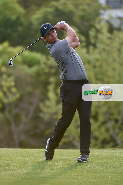 Paul Casey (GBR) watches his tee shot on 3 during day 4 of the WGC Dell Match Play, at the Austin Country Club, Austin, Texas, USA. 3/30/2019.<br /> Picture: Golffile | Ken Murray<br /> <br /> <br /> All photo usage must carry mandatory copyright credit (© Golffile | Ken Murray)