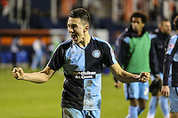 Luke O'Nien of Wycombe Wanderers celebrates after the Sky Bet League 2 match between Luton Town and Wycombe Wanderers at Kenilworth Road, Luton, England on 26 December 2015. Photo by David Horn.