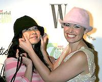 ©2004 KATHY HUTCHINS / HUTCHINS PHOTO.W MAGAZINE PARTY IHO JOHN LIVESAY.BEL AIR, CA.JANUARY 22, 2004..KEIKO AGENA, GILMORE GIRLS STAR.. AND HER .FACIALST, .STACY COX.