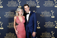 PASADENA - May 5: Debbie Matenopoulos, Cameron Mathison in the press room at the 46th Daytime Emmy Awards Gala at the Pasadena Civic Center on May 5, 2019 in Pasadena, California