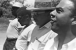 Martin Luther King Jr and Andy Young (at right) with others along route of 2nd Meredith March Against Fear through Mississippi photographed by Jim Peppler for essay published in The Southern Courier on June 25, 1966. Copyright Jim Peppler/1966. This and over 10,000 other images are part of the Jim Peppler Collection at The Alabama Department of Archives and History:  http://digital.archives.alabama.gov/cdm4/peppler.php
