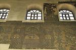 Bethlehem, a Crusader wall mosaic at the Church of the Nativity