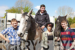 Mark Cronin Milltown, Martin Murphy Scartaglen, Sandra and Ricky O'Sullivan Milltown at the Milltown horse fair on Sunday