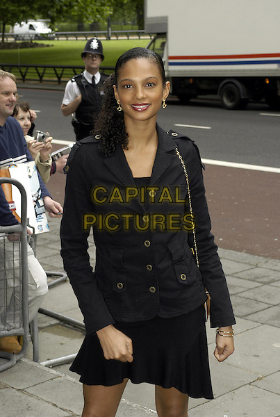 ALESHA DIXON - MISTEEQ.Ivor Novello Awards at Le Meridien Grosvenor House.www.capitalpictures.com.sales@capitalpictures.com.©Capital Pictures.black military jacket