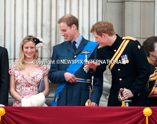 "PRINCE WILLIAM GETS A CLOSER LOOK AT COUSIN LADY ROSE WINDSOR'S CLEAVAGE, WHILE PRINCE HARRY APPEARS TO BE COMMENTING ON THEMTROOPING THE COLOUR 2009.Members of the royal join the Queen on the balcony of Buckingham Palace to watch the fly-past b the RAF. For the first time this year Prince William wore an RAF uniform as he has recently joined them..The Queen's Official Birthday celebrations, attended by Prince Charles, Prince William, Prince Harry, Camilla, Prince Edward and Princess Anne. London_13/06/2009.Mandatory Photo Credit: ©Dias/Newspix International..**ALL FEES PAYABLE TO: ""NEWSPIX INTERNATIONAL""**..PHOTO CREDIT MANDATORY!!: NEWSPIX INTERNATIONAL(Failure to credit will incur a surcharge of 100% of reproduction fees)..IMMEDIATE CONFIRMATION OF USAGE REQUIRED:.Newspix International, 31 Chinnery Hill, Bishop's Stortford, ENGLAND CM23 3PS.Tel:+441279 324672  ; Fax: +441279656877.Mobile:  0777568 1153.e-mail: info@newspixinternational.co.uk"