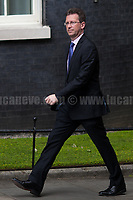 Jeremy Wright QC MP (Attorney General).<br /> <br /> London, 12/06/2017. Today, Theresa May's reshuffled Cabinet met at 10 Downing Street after the General Election of the 8 June 2017. Philip Hammond MP - not present in the photos - was confirmed as Chancellor of the Exchequer. <br /> After 5 years of the Coalition Government (Conservatives &amp; Liberal Democrats) led by the Conservative Party leader David Cameron, and one year of David Cameron's Government (Who resigned after the Brexit victory at the EU Referendum held in 2016), British people voted in the following way: the Conservative Party gained 318 seats (42.4% - 13,667,213 votes &ndash; 12 seats less than 2015), Labour Party 262 seats (40,0% - 12,874,985 votes &ndash; 30 seats more then 2015); Scottish National Party, SNP 35 seats (3,0% - 977,569 votes &ndash; 21 seats less than 2015); Liberal Democrats 12 seats (7,4% - 2,371,772 votes &ndash; 4 seats more than 2015); Democratic Unionist Party 10 seats (0,9% - 292,316 votes &ndash; 2 seats more than 2015); Sinn Fein 7 seats (0,8% - 238,915 votes &ndash; 3 seats more than 2015); Plaid Cymru 4 seats (0,5% - 164,466 votes &ndash; 1 seat more than 2015); Green Party 1 seat (1,6% - 525,371votes &ndash; Same seat of 2015); UKIP 0 seat (1.8% - 593,852 votes); others 1 seat. <br /> The definitive turn out of the election was 68.7%, 2% higher than the 2015.<br /> <br /> For more info about the election result click here: http://bbc.in/2qVyNRd &amp; http://bit.ly/2s9ob51<br /> <br /> For more info about the Cabinet Ministers click here: https://goo.gl/wmRYRd
