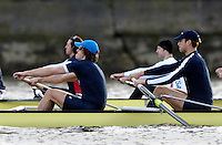 PUTNEY, LONDON, ENGLAND, 05.03.2006, Pre 2006 Boat Race Fixtures,.   © Peter Spurrier/Intersport-images.com right to left, No.5 James Schroeder. No.6 Barney Williams, ..[Mandatory Credit Peter Spurrier/ Intersport Images] Varsity Boat Race, Rowing Course: River Thames, Championship course, Putney to Mortlake 4.25 Miles