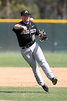 March 13, 2010:  Shortstop Clint Moore of Army vs. Long Island University Blackbirds in a game at Henley Field in Lakeland, FL.  Photo By Mike Janes/Four Seam Images