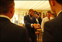 BNPS.co.uk (01202 558833)<br /> Pic: TimelessDeception/BNPS<br /> <br /> At a wedding in Whitby in October 2016.<br /> <br /> A hardened medic in the Special Boat Service has made a drastic career change - after starting out as a professional magician. <br /> <br /> Steel Johnson quit his 10 year military career after enduring two hellish tours of Iraq and Afghanistan.<br /> <br /> The 32-year-old is now fulfilling his childhood dream of performing magic full-time. <br /> <br /> Steel, whose real name is James, has practiced sleight of hand tricks since the age of nine.