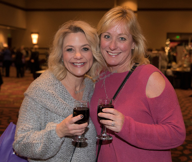 Kathleen Nickel and Linda Esparza during the 10th Annual Power of the Purse held on Friday night, Nov. 17, 2017 in the Reno Ballroom in downtown Reno.