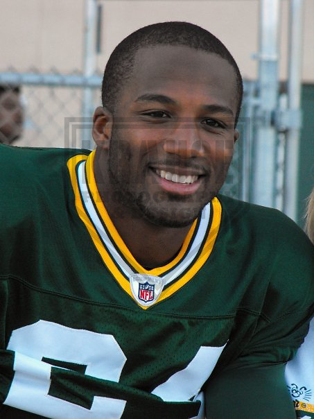 GREEN BAY - AUGUST 2008: Jarrett Bush (24) of the Green Bay Packers prior to a practice in August 2008 in Green Bay, Wisconsin. (Photo by Chad Krause)