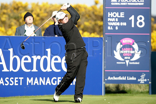 03.05.2012.  East Lothian, Scotland. Felicity Johnson (ENG) In action during the Ladies Scottish Open from the Archerfield Fidra Links Course.