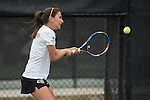 April 22, 2015; San Diego, CA, USA; Pacific Tigers tennis player Gergana Boncheva during the WCC Tennis Championships at Barnes Tennis Center.