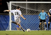 Florida International University men's soccer player Arnthor Kristinsson (19) plays against Florida Atlantic University on August 28, 2011 at Miami, Florida.  The game ended in a 1-1 overtime tie. .