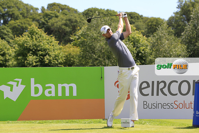 Chris Wood (ENG) during Wednesday's Pro-Am of the 2014 Irish Open held at Fota Island Resort, Cork, Ireland. 18th June 2014.<br /> Picture: Eoin Clarke www.golffile.ie