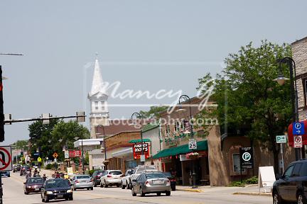 Small Town USA, Village Centre Appleton Avenue, Menomonee Falls Wisconsin