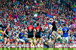 Peter Crowley Kerry in action against Diarmuid O'Connor Mayo in the All Ireland Semi Final in Croke Park on Sunday.