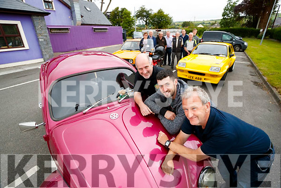 Pictured at the launch of the Kingdom Veteran Vintage and Classic Car Club charity run in aid of Down Syndrome Kerry, which takes place Friday, July 21st starting at O'Riada's Bar, Ballymac, front l-r: Garrett Foley (club secretary), David O'Mahony (club PRO) and George Glover (club member and organiser). Back l-r: Joan Glover, Timmy Connor, Peter O'Connor, John Reidy, Tom Glover, Brian Glover, Paul Horan and Gary Horan.