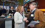 AMERSFOORT - Patty Smit met Henk Heijster. Nationaal Golf Congres & Beurs (Het Juiste Spoor) van de NVG.     © Koen Suyk.