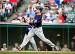 5 September 2009: Minnesota Twins' first baseman Justin Morneau in action against the Cleveland Indians at Progressive Field in Cleveland, Ohio. The Twins defeated the Indians 4-1 in the second game of their three-game weekend series. Mandatory Credit: Ed Wolfstein Photo