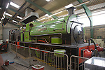 Historic steam engines at George Stephenson museum, North Shields, Northumberland, England