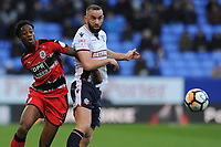 Aaron Wilbraham of Bolton Wanderers vies for the ball with Terence Kongolo of Huddersfield Town during Bolton Wanderers vs Huddersfield Town, Emirates FA Cup Football at the Macron Stadium on 6th January 2018