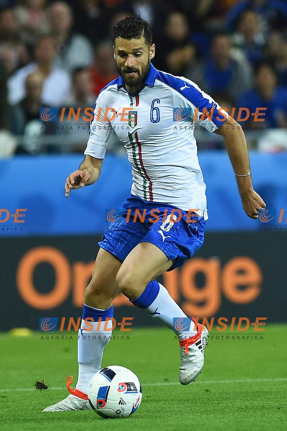 Antonio Candreva Italy <br /> Lyon 13-06-2016 Grand Stade de Lyon Football Euro2016 Belgium-Italy / Belgio-Italia Group Stage Group E. Foto Massimo Insabato / Insidefoto