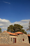 Israel, Sea of Galilee. Historic buildings in Kinneret Yard