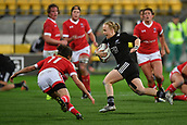 9th June 2017, Westpac Stadium, Wellington, New Zealand; International Womens Rugby; New Zealand versus Canada;  New Zealands Kendra Cocksedge (C runs in a try