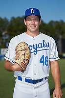 Burlington Royals pitcher Drew Parrish (46) poses for a photo prior to the game against the Danville Braves at Burlington Athletic Stadium on July 13, 2019 in Burlington, North Carolina. The Royals defeated the Braves 5-2. (Brian Westerholt/Four Seam Images)