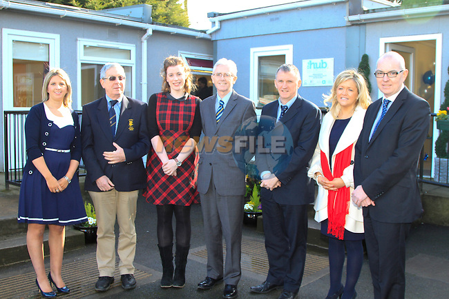 Lisa McIvor, Reggie McHugh, Emer Connaughton, John McGregor, Dermot Monaghan, Carol Breen and Willy McAllister during the Launch of the HUB at the Rugby Club on Thursday 27th February 2014.<br /> Picture:  Thos Caffrey / www.newsfile.ie