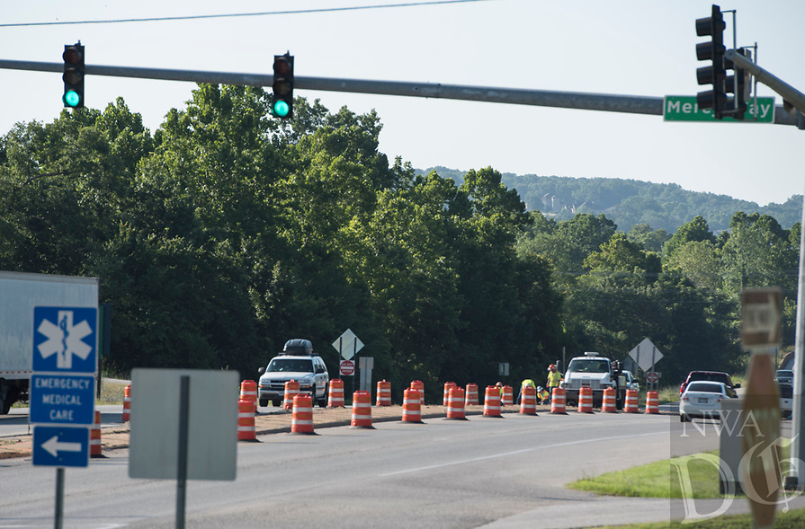 Work started, Monday July 10, 2017, on a dedicated left turn lane, at the intersection of U.S. 71 northbound and Mercy Way in Bella Vista. The city of Bella Vista has contracted with APAC Central, Inc. for the project. Per the contract, workers will have 60 days to complete the project, and construction is expected to be finished September 8. During construction, motorists should anticipate periodic lane closures and travel time delays. More specific information on lane closures will be disseminated as the project progresses. Updates will be posted on the city's webpage — www.bellavistaar.gov — and the city's Facebook page — City of Bella Vista, Arkansas.