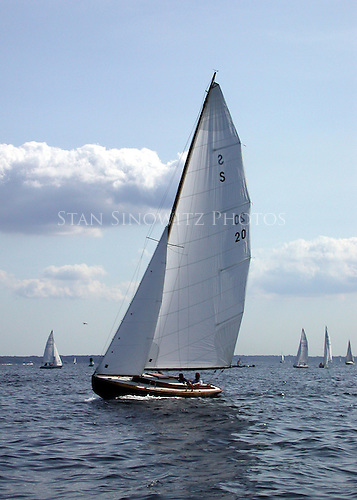 A Herreshoff designed S-Boat.  Very old and active in a fleet of many more most racing on Western Long Island Sound.