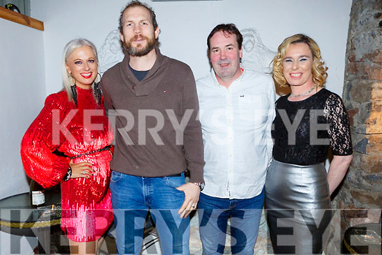 Orla Winters, John O'Sullivan, Will Fitzgerald and Lisa Horgan from Benner's Hotel enjoying their Christmas party in Bella Bia on Sunday night.