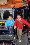 Jamie and Luke Finnegan.at the open day in Clogherhead lifeboat station..Picture: Fran Caffrey / www.newsfile.ie ..