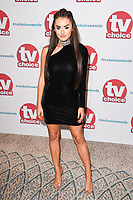 Amber Davies<br /> arriving for the TV Choice Awards 2017 at The Dorchester Hotel, London. <br /> <br /> <br /> &copy;Ash Knotek  D3303  04/09/2017