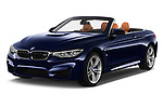 2018 BMW M4 Base 2 Door Convertible angular front stock photos of front three quarter view