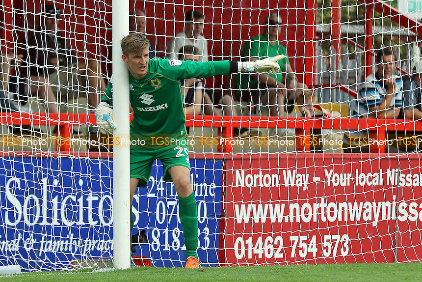 MK Dons goalkeeper, Charlie Burns during Stevenage vs MK Dons, Friendly Match Football at the Lamex Stadium on 30th July 2016