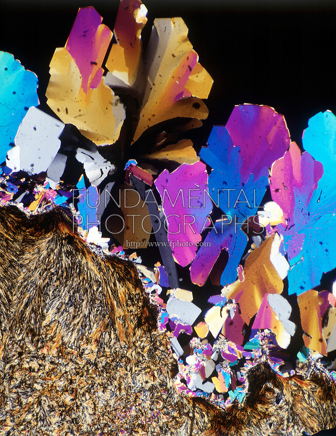 CITRIC ACID CRYSTALS<br /> Monohydrate C6H8O7, H2O Polarized light; liquefied &amp; recrystallized