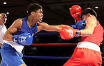Shakur Stevenson, left, and Efren Lopez compete in the U.S. Olympic Boxing Trials in Reno, Nev., on Wednesday, Dec. 9, 2015. (AP Photo/Cathleen Allison)