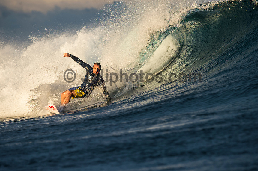 Namotu Island Resort, Namotu, Fiji. (Wednesday June 4, 2014) Tiago Pires (PRT) – Free surfing session went down this morning while organises debated a starting time for the Fiji Pro. Photo: joliphotos.com