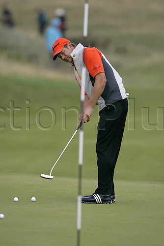 16 July 2008: South African golfer Refief Goosen (RSA) during practice for the Open Championship at Royal Birkdale Photo: Neil Tingle/Action Plus..080716