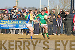 St Brendan's College's Bryan O'Shea and De La Salle College Kevin Manning.