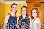 Sarah Maher, Michelle Reidy and Amber Galwey enjoying the Castleisland Golf club social in the River Island Hotel on Saturday night