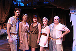 "Josh A. Davis ""Odysseus"", Janine DiVita ""Penelope"", Colleen Zenk ""Anticleia"", Emma Zaks ""Athena"", Eddie Korbich ""Poseidon"" - Opening Night of Odyssey - The Epic Musical starring Colleen Zenk, Edddie Korbich, Josh A. Davis, Emma Zaks and Janine DiVita and cast on October 23, 2011 at the American Theatre of Actors, New York City, New York. (Photo by Sue Coflin/Max Photos)"