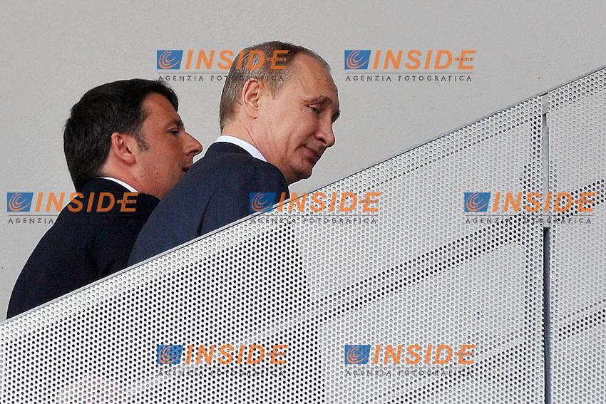 Vladimir Putin e Matteo Renzi<br /> Milano 10-06-2015 Expo. Visita del Presidente russo all'Expo.<br /> Russian President visits Expo 2015<br /> Photo  Andrea Ninni/Image/Insidefoto